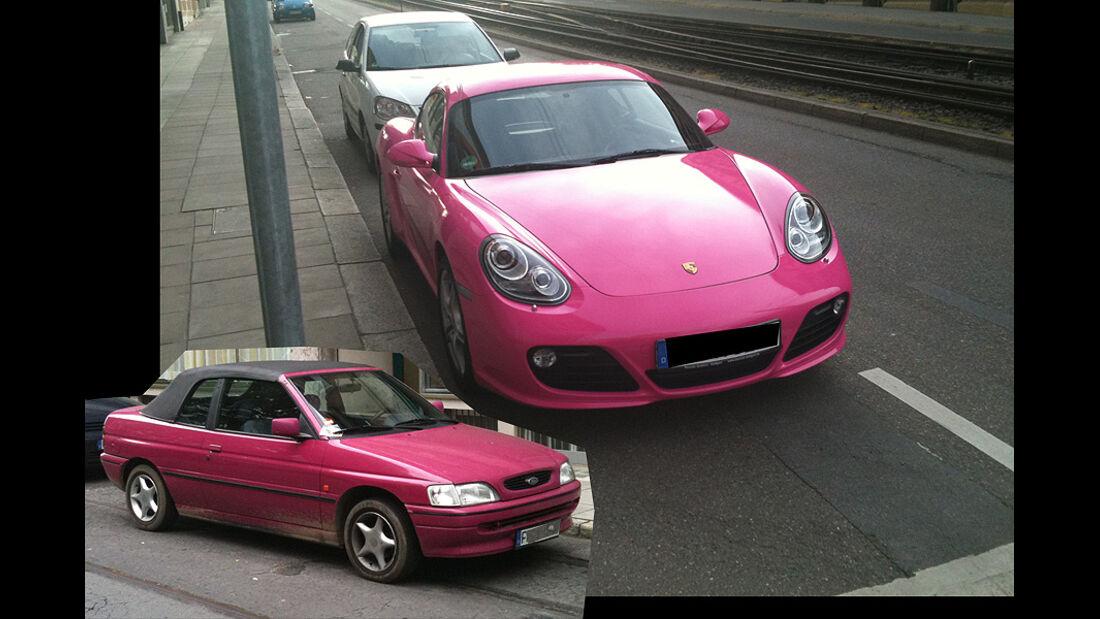 Pink Porsche, Lila Escort Cabrio