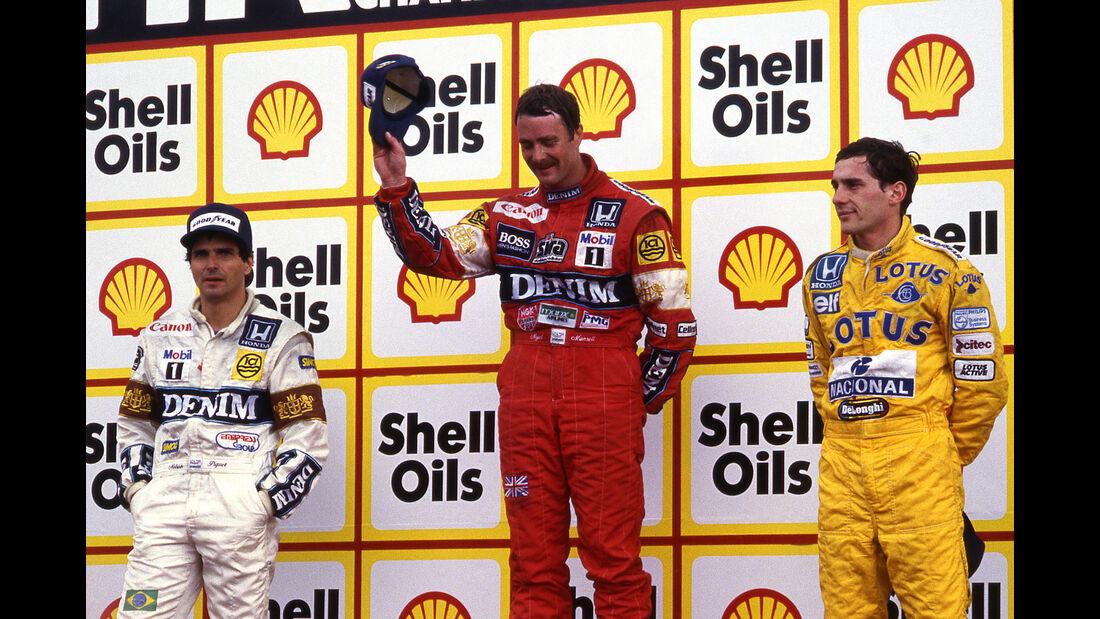 Piquet - Mansell - Senna - GP England 1987