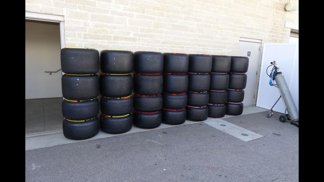 Pirelli - GP USA - Austin - Formel 1 - Mittwoch - 18.10.2017