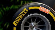 Pirelli - Jules Bianchi-Aufkleber - GP Ungarn 2015