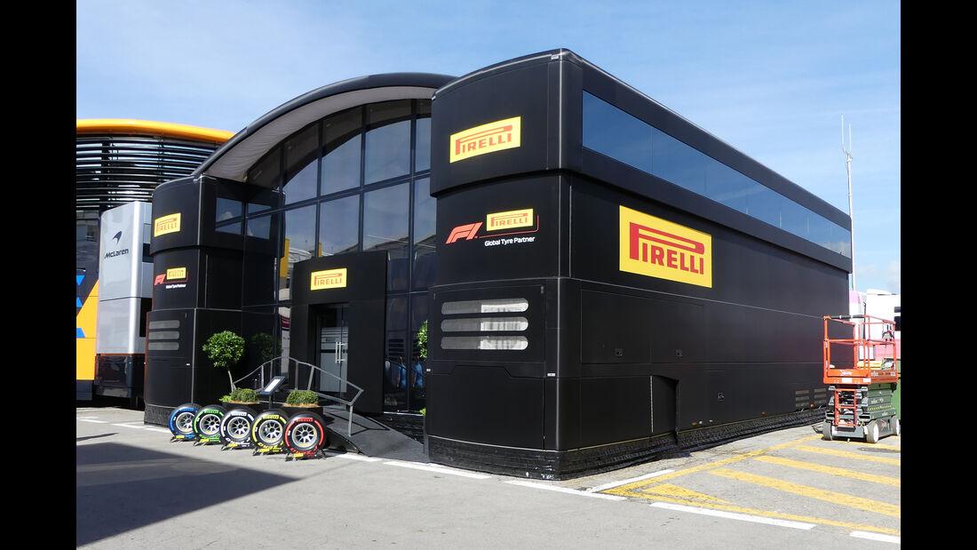Pirelli - Motorhomes - Formel 1 - GP Spanien 2019