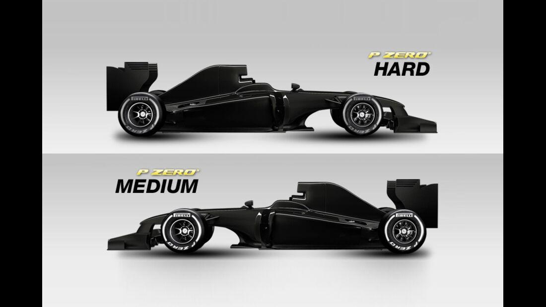 Pirelli Reifen 2012 - medium & hard