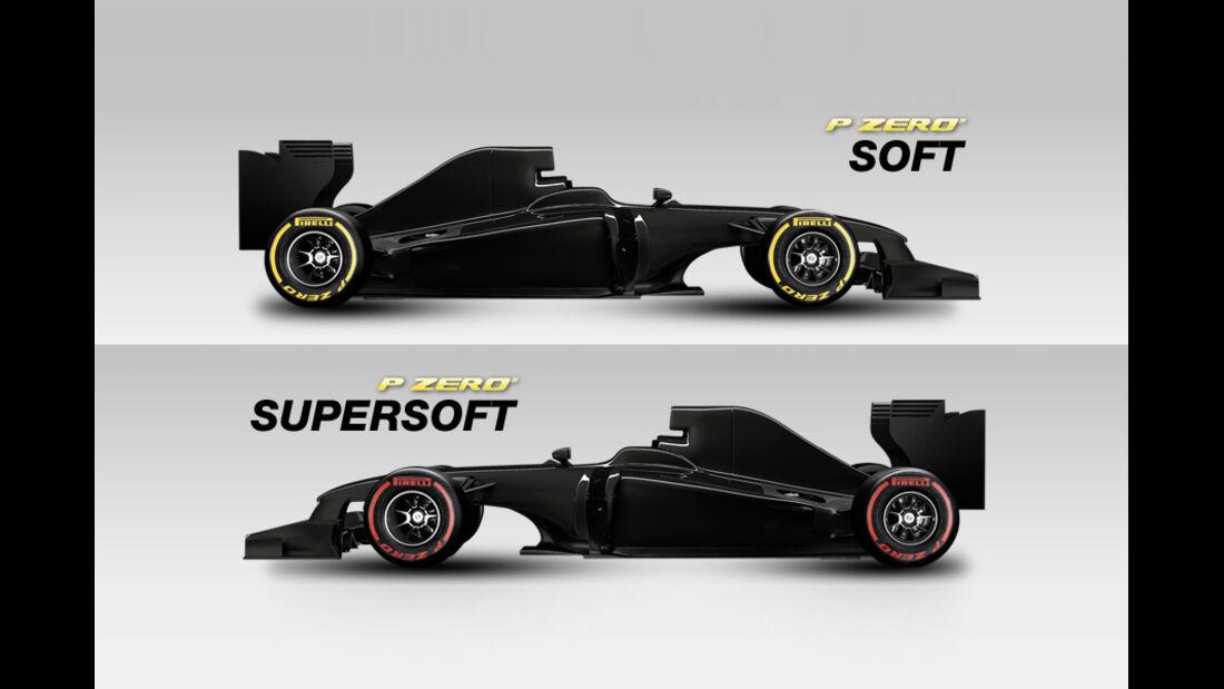 Pirelli Reifen 2012 - soft & supersoft