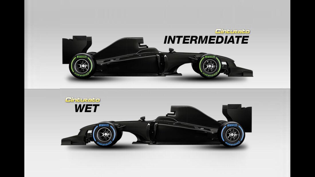 Pirelli Reifen 2012 - wet & intermediate