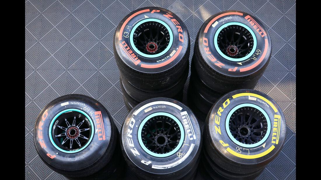 Pirelli-Reifen - Barcelona - F1-Test - 01. März 2019