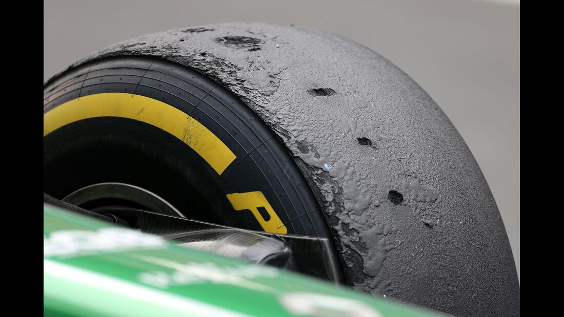 Pirelli-Reifen (Caterham) - Formel 1 - GP Indien - 25. Oktober 2013