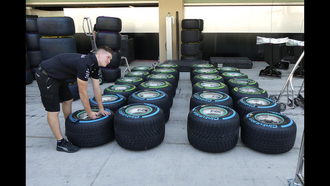 Pirelli-Reifen - Formel 1 - GP Abu Dhabi - 23. November 2017