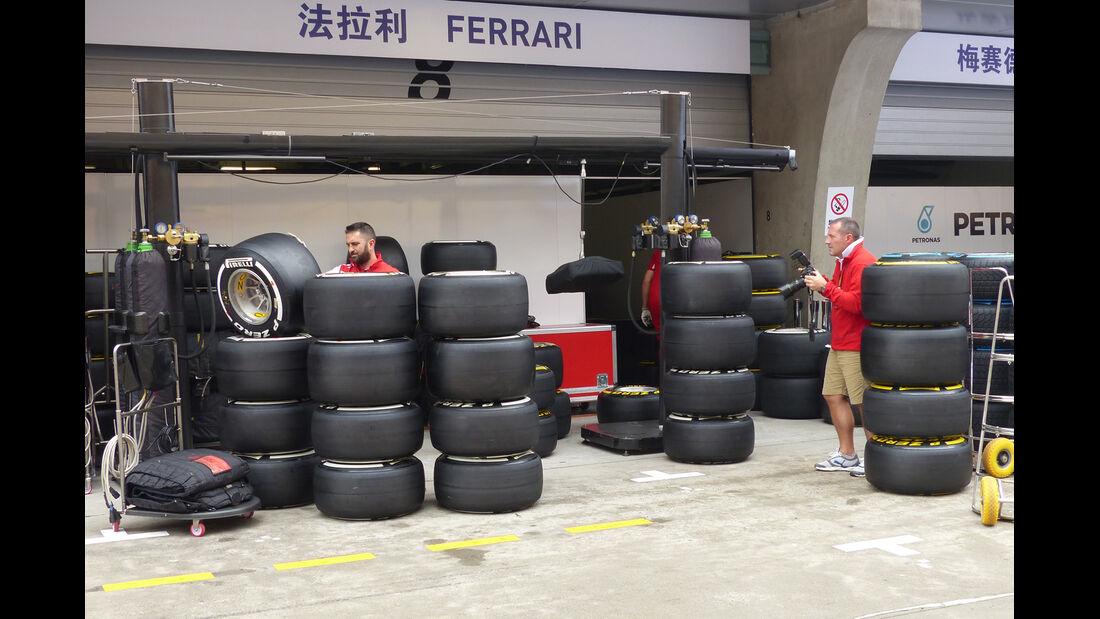 Pirelli-Reifen - Formel 1 - GP China - Shanghai - 17. April 2014