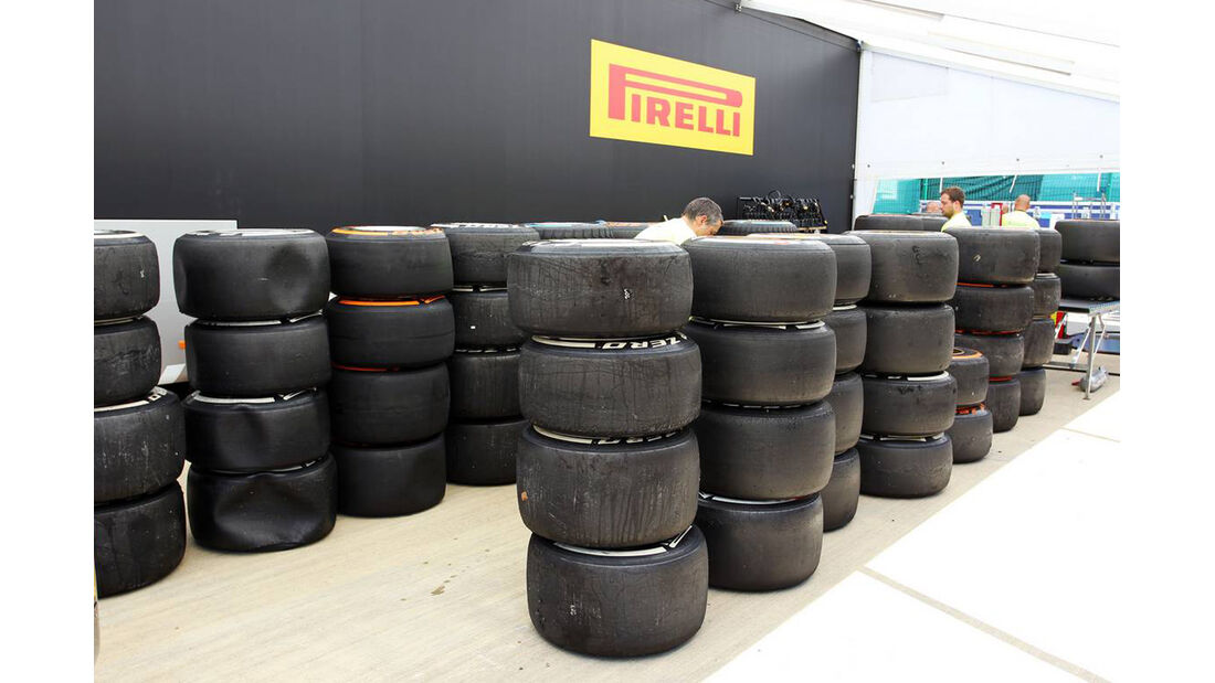 Pirelli Reifen  - Formel 1 - GP England - 30. Juni 2013