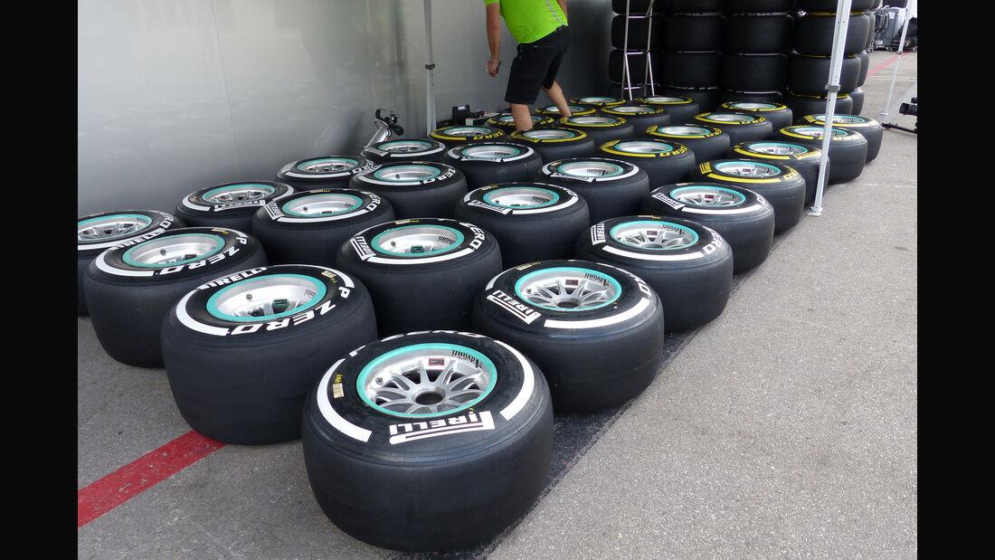 Pirelli-Reifen - Formel 1 - GP USA - Austin - 21. Oktober 2015