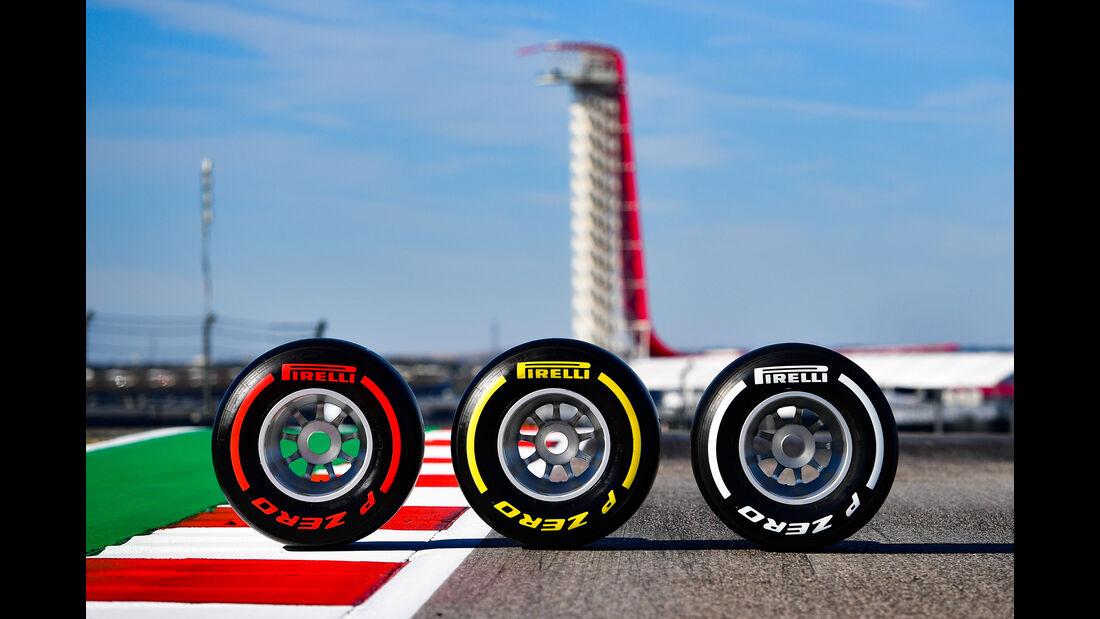 Pirelli-Reifen - Formel 1 - GP USA - Austin - 31. Oktober 2019