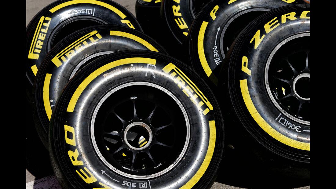Pirelli-Reifen - Formel 1 - Test - Barcelona - 1. März 2017