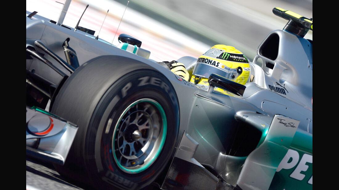 Pirelli Reifen hart GP Spanien 2012 Rosberg
