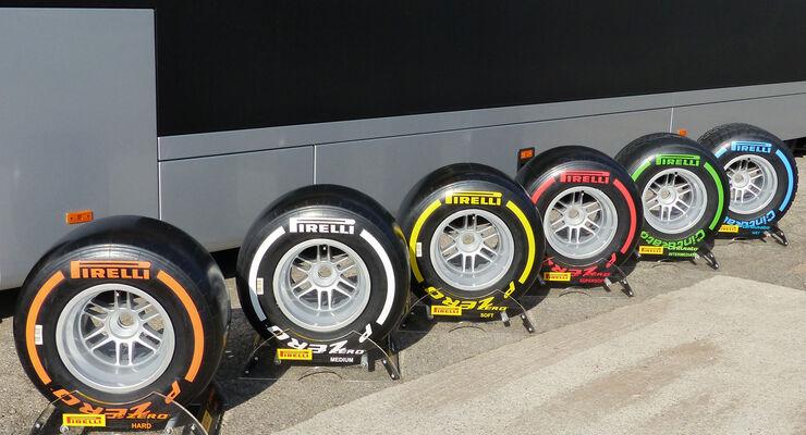 Pirelli - Reifenmischungen - GP Spanien - Samstag - 9.5.2015
