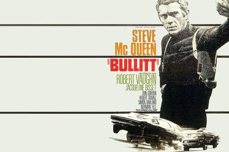 Plakat Steve McQueen, Mustang Bullit