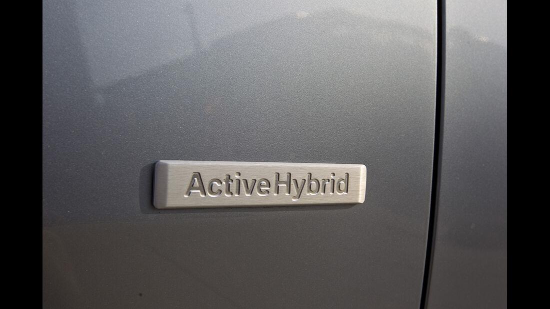 Plakette am BMW Active Hybrid X6