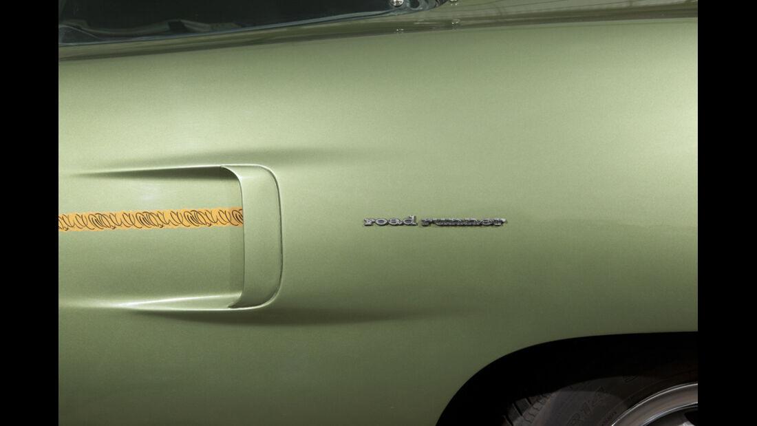 Plymouth Roadrunner 440, Luftschlitz, Seite, Detail