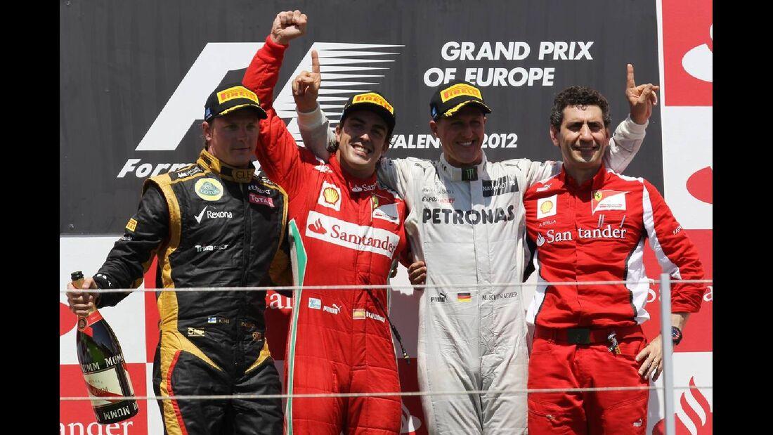 Podest  - Formel 1 - GP Europa - 24. Juni 2012