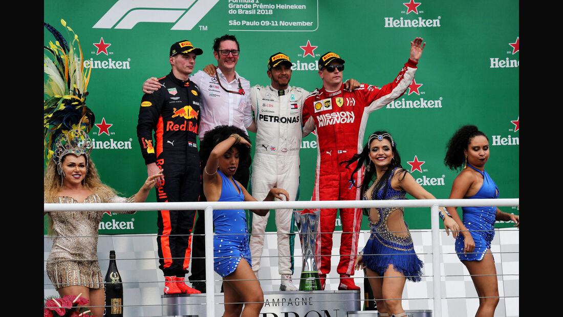 Podest - GP Brasilien 2018 - Rennen