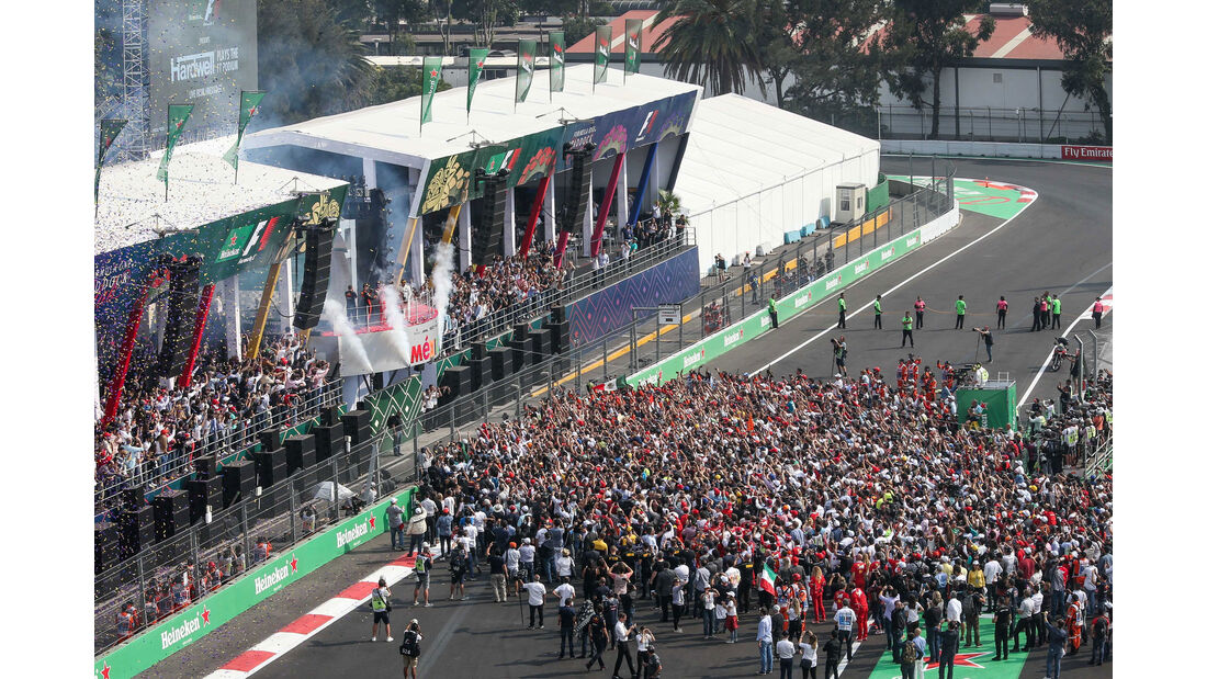Podest - GP Mexiko 2017 - Rennen
