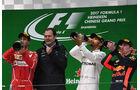 Podest - Hamilton - Vettel - Verstappen - GP China 2017 - Shanghai - Rennen