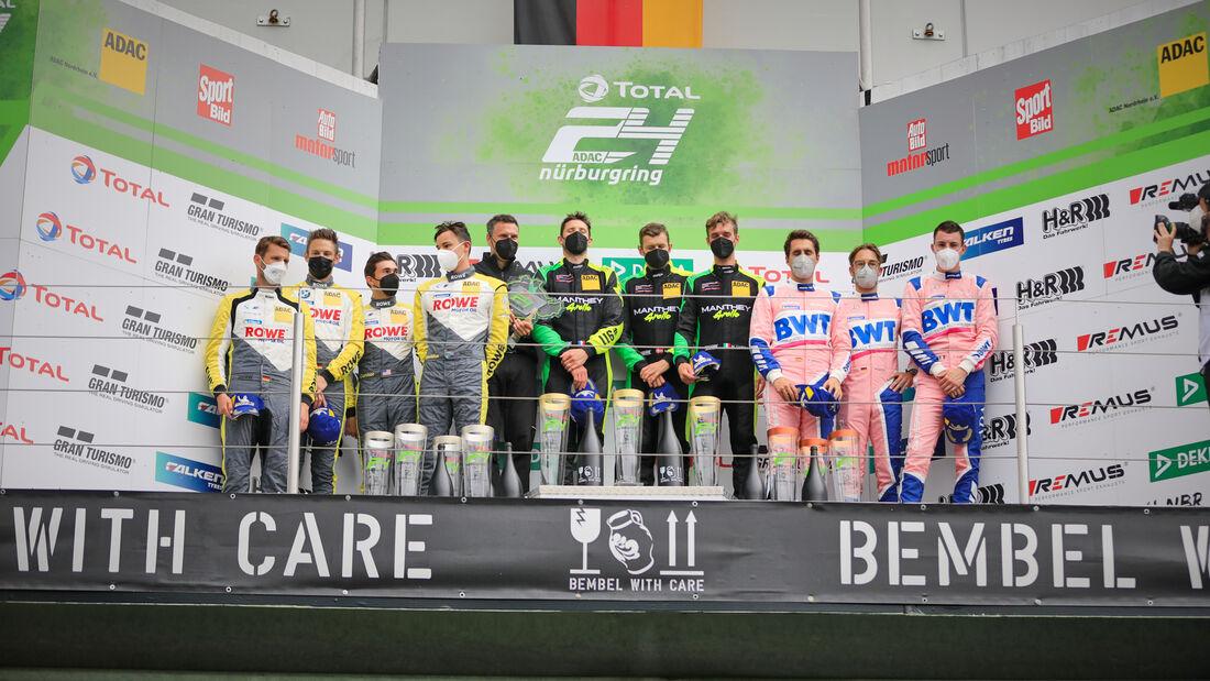 Podium - 24h-Rennen Nürburgring - Nürburgring-Nordschleife - 6. Juni 2021