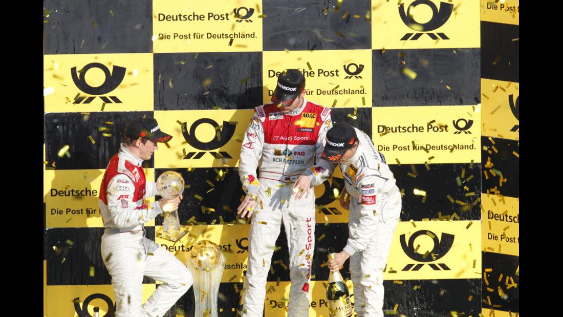 Podium DTM Hockenheim Finale 2011