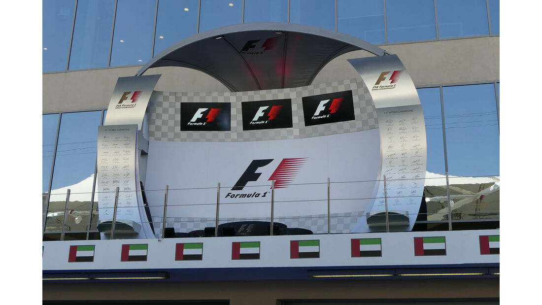 Podium - Formel 1 - GP Abu Dhabi - 24. November 2016