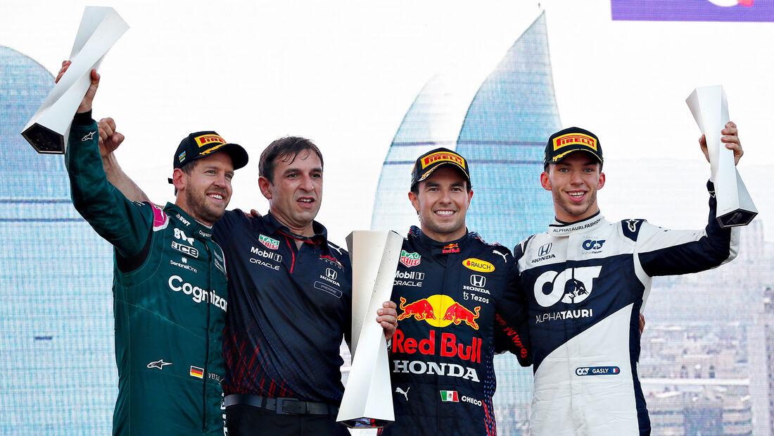 Podium - Formel 1 - GP Aserbaidschan 2021