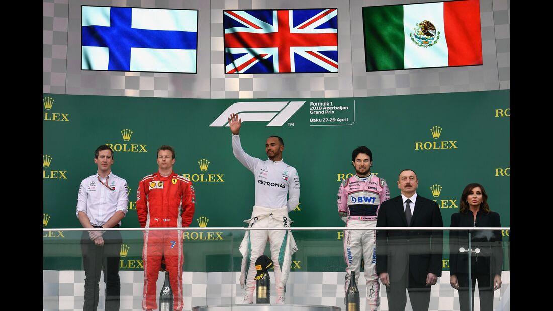 Podium - Formel 1 - GP Aserbaidschan - 29. April 2018