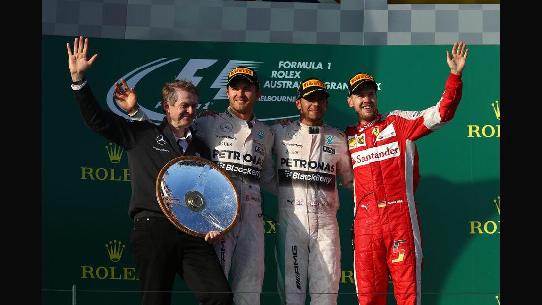 Podium - Formel 1 - GP Australien 2015