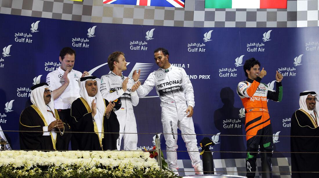Podium - Formel 1 - GP Bahrain 2014