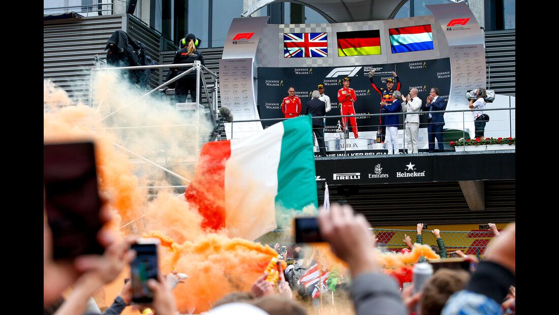 Podium - Formel 1 - GP Belgien 2018