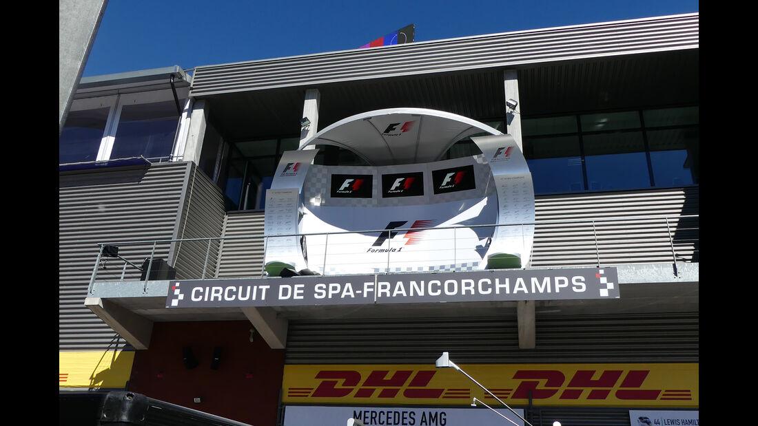 Podium - Formel 1 - GP Belgien - 24. August 2016