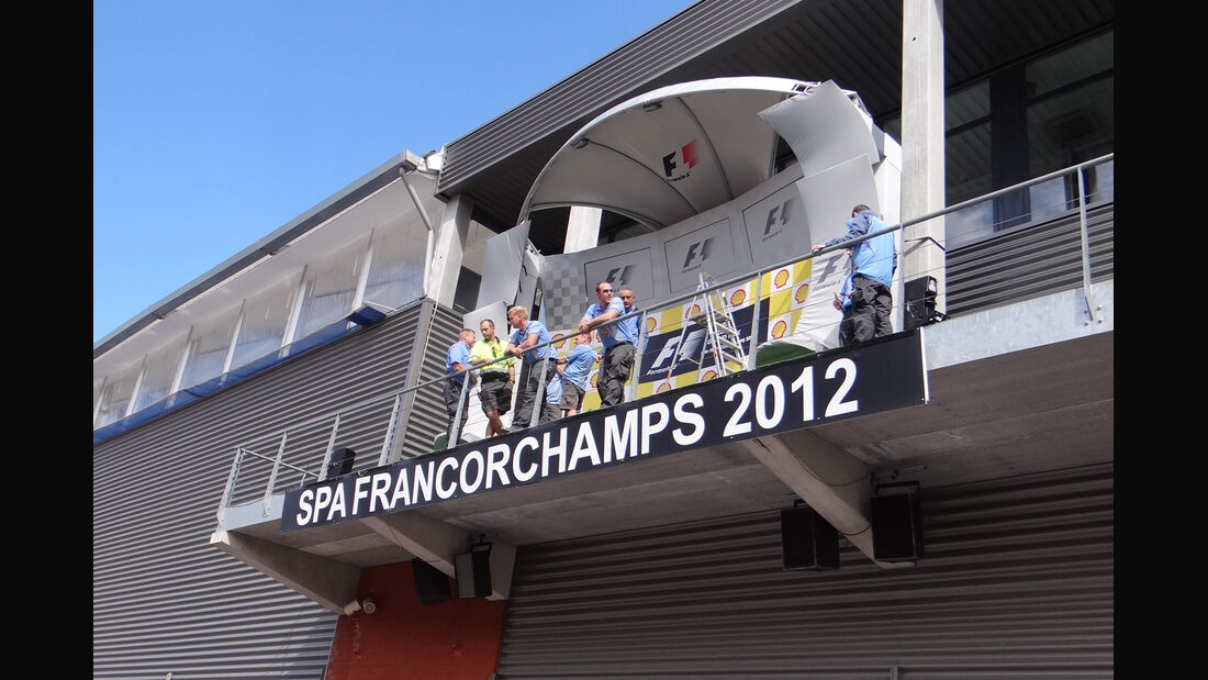 Podium - Formel 1 - GP Belgien - Spa - 30.8.2012