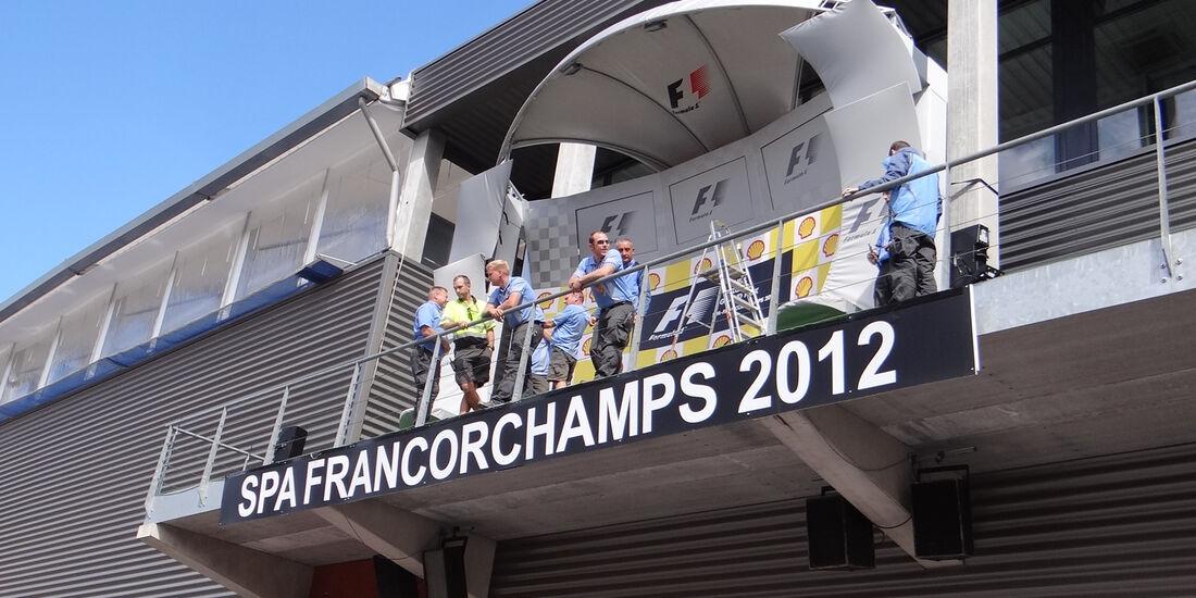 Podium - Formel 1 - GP Belgien - Spa - 30.8.2012