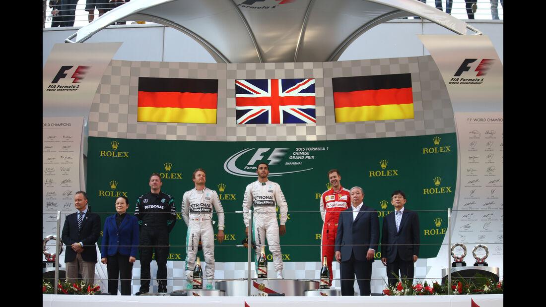 Podium - Formel 1 - GP China 2015
