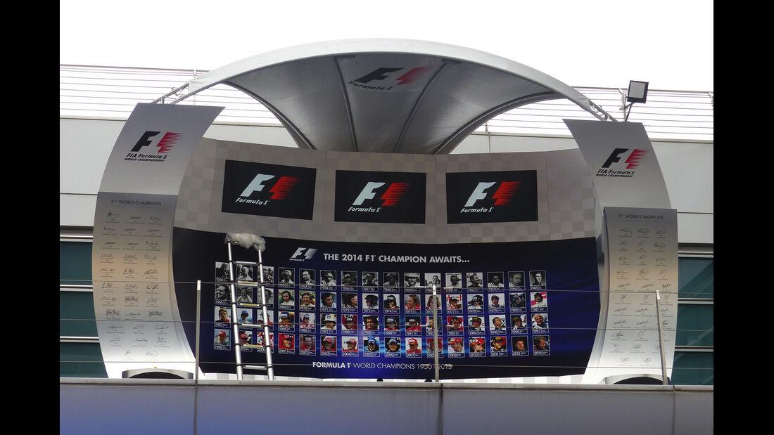Podium - Formel 1 - GP China - Shanghai - 17. April 2014