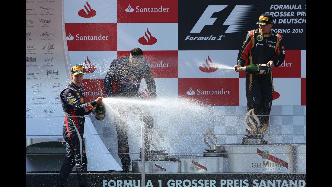 Podium - Formel 1 - GP Deutschland 2013
