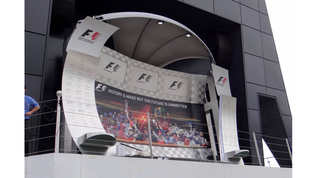 Podium - Formel 1 - GP England - Silverstone - 5. Juli 2012