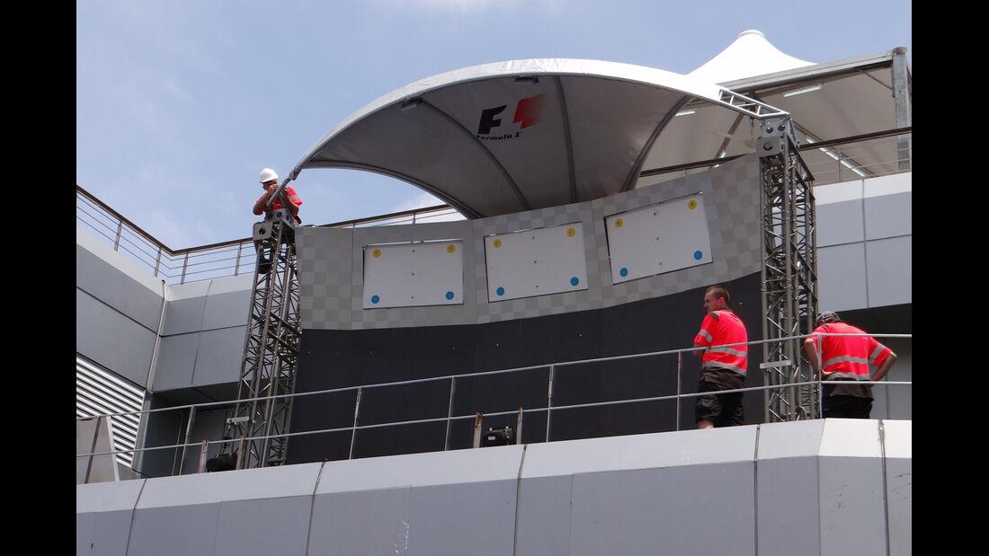 Podium - Formel 1 - GP Malaysia - 20. März 201