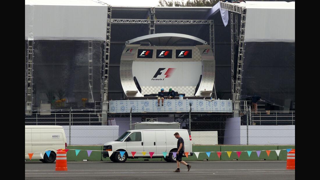 Podium - Formel 1 - GP Mexico - 28. Oktober 2015