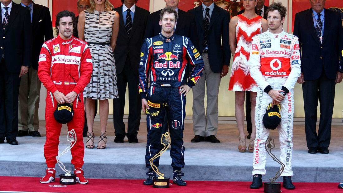 Podium - Formel 1 - GP Monaco 2011