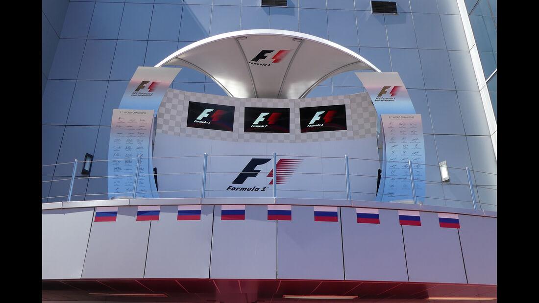 Podium - Formel 1 - GP Russland - Sotschi - 26. April 2017