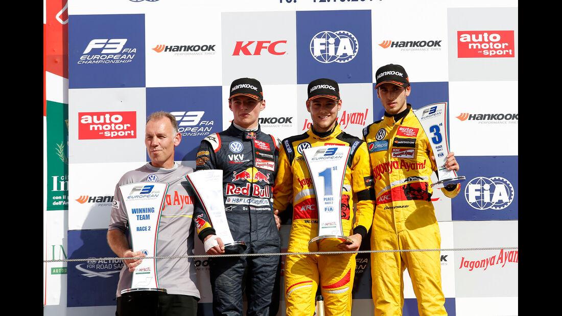 Podium - Formel 3 EM - Imola - 2014