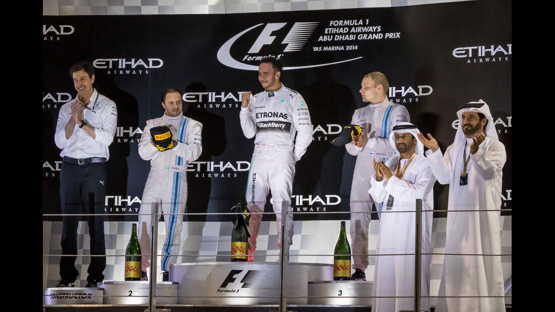 Podium - GP Abu Dhabi 2014