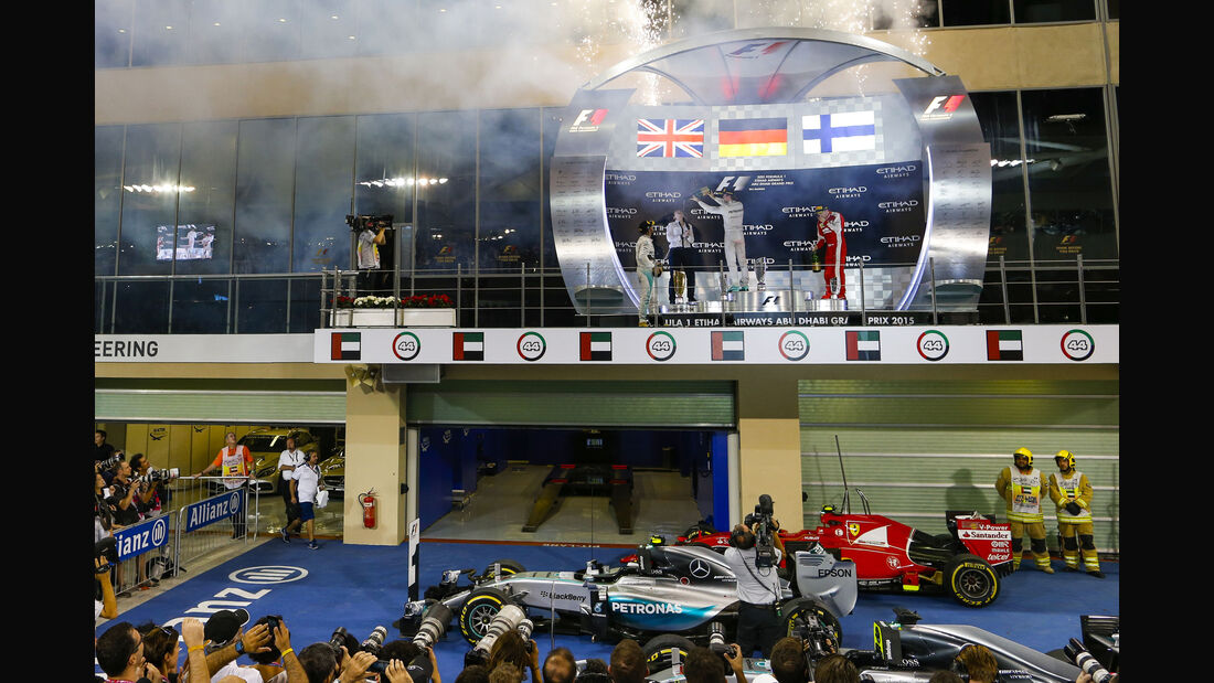 Podium - GP Abu Dhabi 2015
