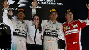 Podium - GP Abu Dhabi 2015