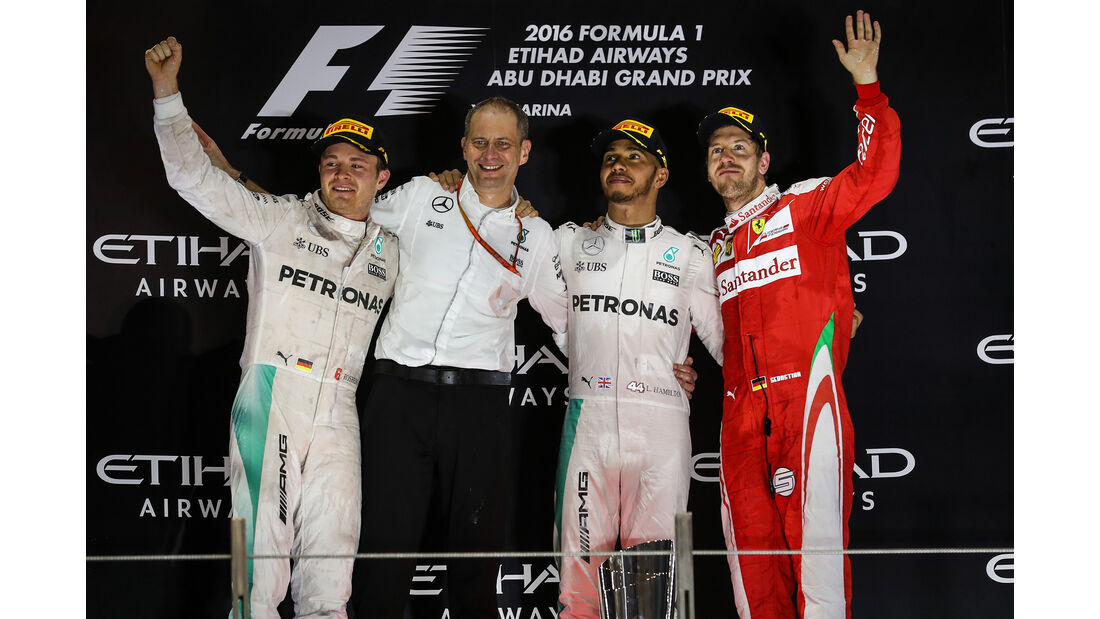 Podium - GP Abu Dhabi 2016