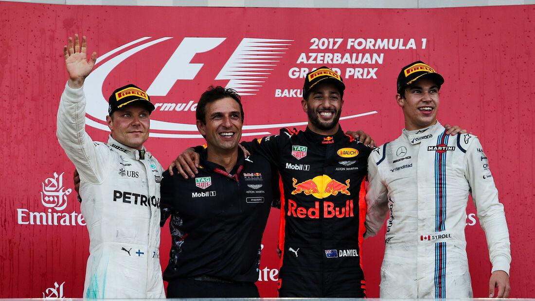 Podium - GP Aserbaidschan 2017